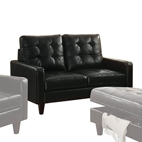 Acme Furniture 50266 Nate Loveseat, Black