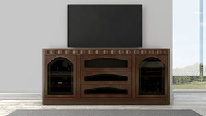 "Furnitech 78"" Transitional TV Console in cognac finish"