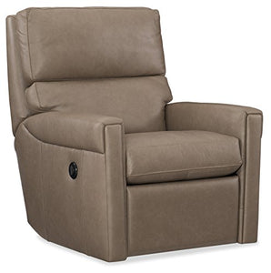 Harris & Terry AMZ1971697 Lyrica Power Swivel Recliner Arm Chairs, Brown