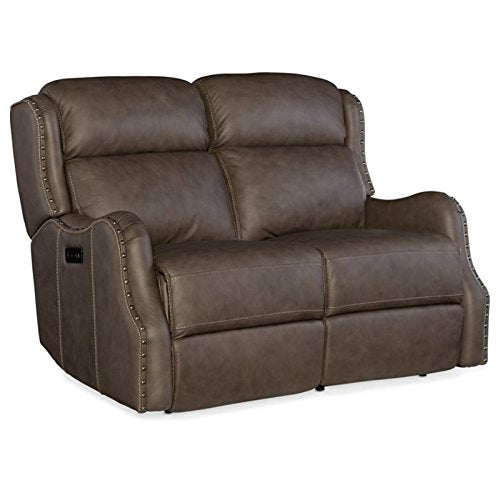 Hooker Furniture Sawyer Leather Power Reclining Loveseat in Chandler