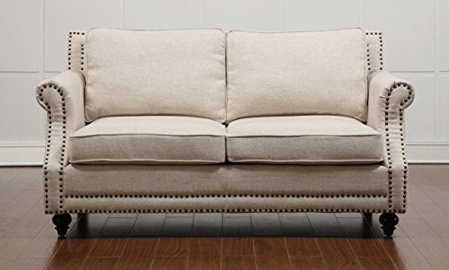 Tov Furniture Camden Linen Loveseat, Beige