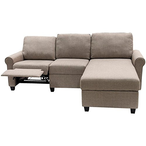 Pemberly Row Right Facing Reclining Sectional in Oatmeal