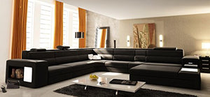 VIG Furniture VGEV5022-BND-BLK Divani Casa Polaris - Contemporary Bonded Leather Sectional