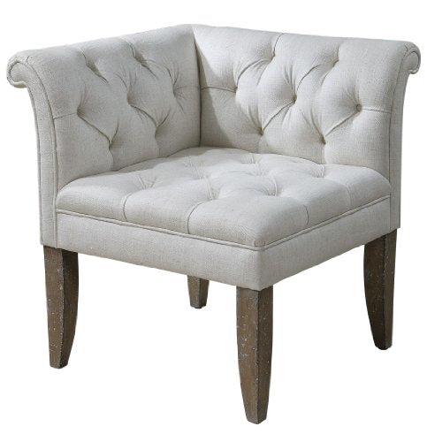 Zinc Decor Chesterfield Tufted Corner Chair