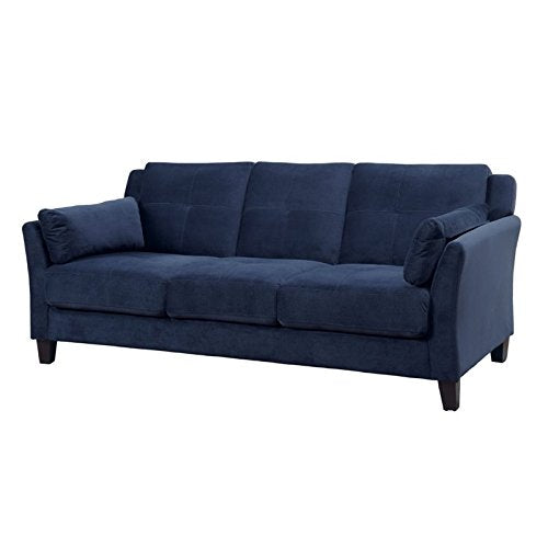 Furniture of America Trevon Tufted Sofa in Navy