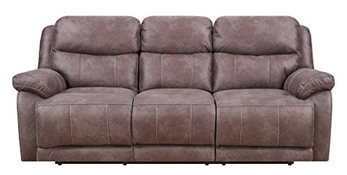 MStar Hunter 3 Seat Lay Flat Dual Reclining Sofa with Dual Power Adjustable Headrests, USB Charging Ports and Memory Foam Seat Topper