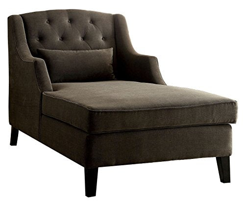 HOMES: Inside + Out IDF-BN6147 Grent Traditional Chaise Lounger, Mocha