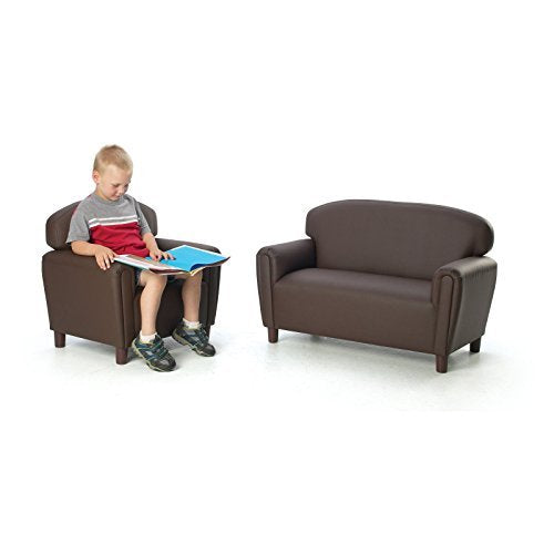 Brand New World Furniture FP2C100 Brand New World Preschool Enviro-Child Upholstery Sofa, Chocolate