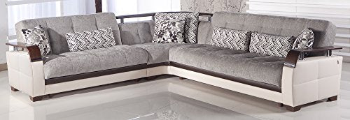 Natural Sectional Sofa | Valencia Gray