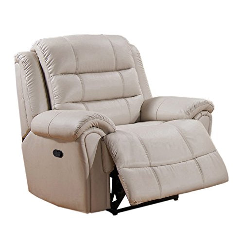 Coja by Sofa4life Britannia Leather Recliner, Ivory