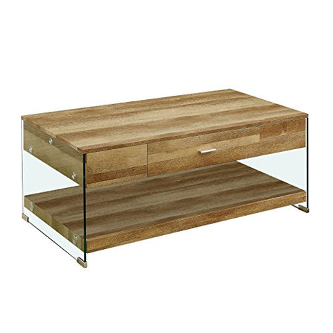 247SHOPATHOME IDF-4451A-C Hazelton Coffee Table, Oak