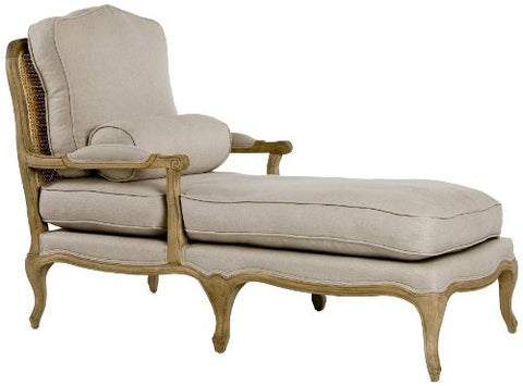 Zentique Bastille Chasie Lounge, Natural Oak/Linen