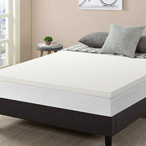 "Best Price Mattress Topper Short Queen, 2.5"" Memory Foam Mattress Topper with Certipur-US Certified Ventilated Cooling, Short Queen Size"