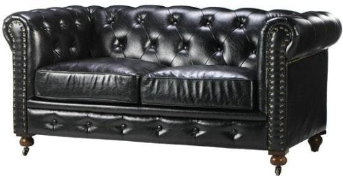 "Home Decorators Collection Gordon Tufted Loveseat, 32"" Hx66 Wx38.25 D, Black"
