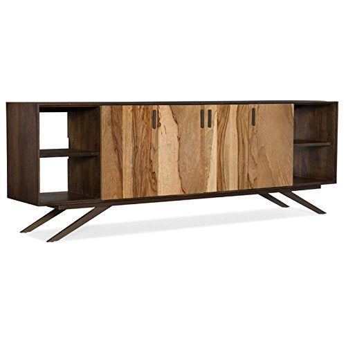 "Hooker Furniture Shogun 78"" TV Stand in Medium Wood"