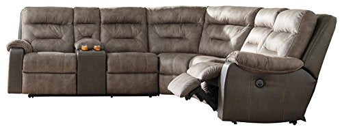 Benchcraft Hacklesbury Right-Arm Facing Power Recliner Brownstone