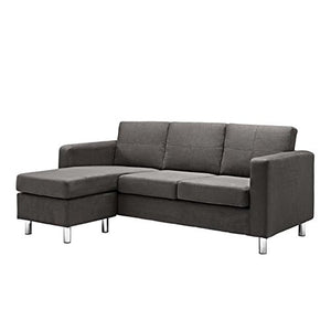Pemberly Row Adjustable Sectional Sofa in Gray