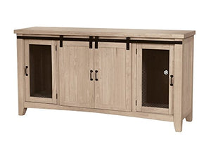Whitewood Barn Door Farmhouse TV Entertainment Stand