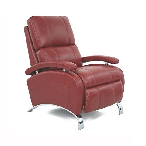 "Barcalounger Oracle Ii Leather Recliner Red Leather/Chrome Frame Dimensions: 29.75""W X 39.25""D X 42.5""H Seat Dimensions: 22""Wx21""Dx21""H Weight: 107 Lbs"