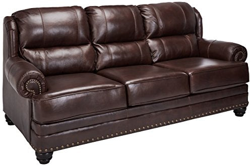 Ashley Furniture Signature Design - Glengary Sofa - Traditional Style Couch - Chestnut