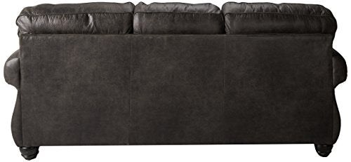 Benchcraft - Breville Traditional Sofa Sleeper - Queen Size Mattress and Throw Pillows Included - Charcoal