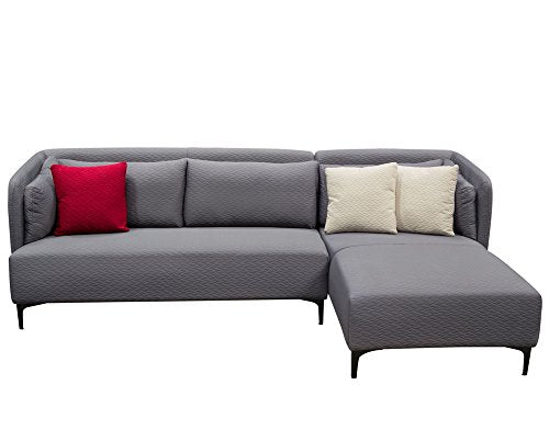 2-Pc Sectional Sofa Set in Gray