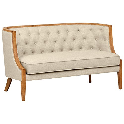 "Stone & Beam Laurel Rounded Loveseat, 57""W, Sand"