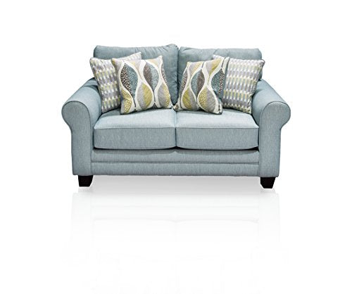 Furniture of America Gardena Love Seat, Soft Teal