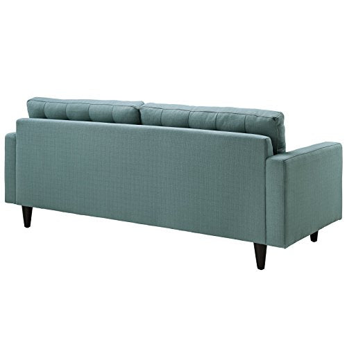 Modway Empress Mid-Century Modern Upholstered Fabric Sofa In Laguna