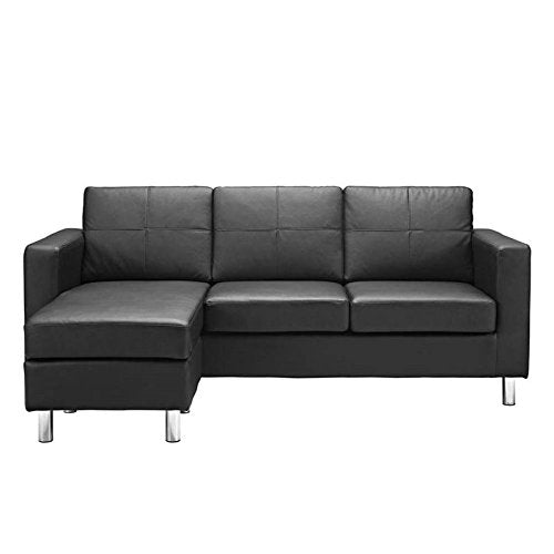 Pemberly Row Adjustable Sectional Sofa in Black