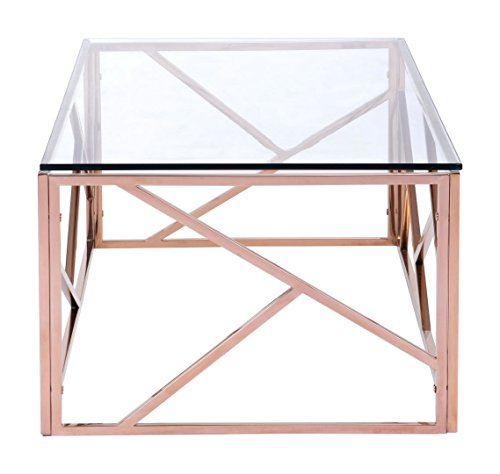 Zuo Cage Coffee Table Rose Gold