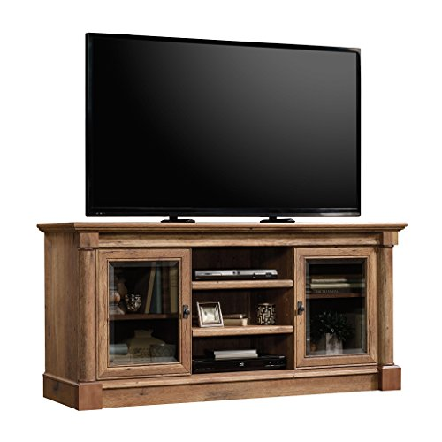TV Stand Media Center 2 Side Cabinets Open Storage Shelves, Durable Wood Construction, Enclosed Storage, Adjustable Shelves, Versatile, Perfect For Living Room, Bedroom, Vintage Oak + Expert Guide