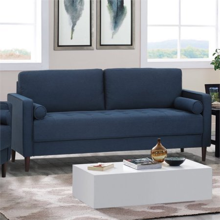 Sofa, Quality and Value Through its Modern and Sophisticated Designs, Offers Clean, Angular Lines with Rich Upholstery and Tapered Hardwood Feet, Robust Wood Frame is Wrapped in High-Density Foam