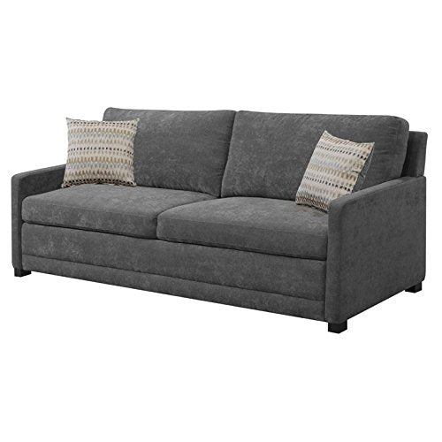 Lifestyle Solutions Serta Sabrina Convertible Sofa in Gray