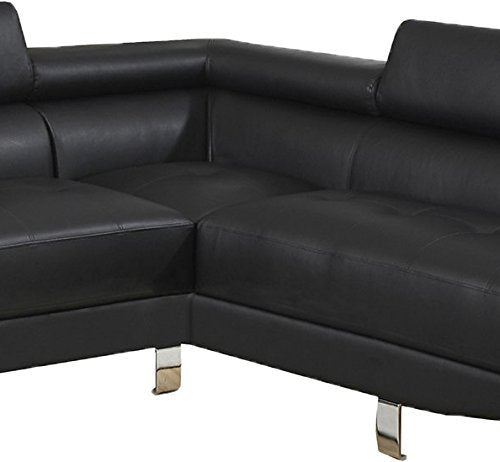 Poundex B00NNKC6VK Sectional Sofa, Black