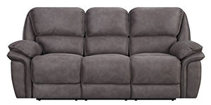MStar Jackson 3 Seat Dual Power Reclining Sofa with USB Charging Ports and Memory Foam Seat Toppers