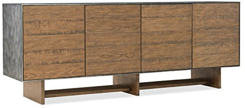 Harris & Terry AMZ1415824 Genevive Entertainment Console, Medium Wood