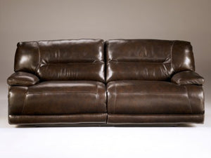 Ashley Furniture Signature Design - Exhilaration Reclining Sofa - Pull Tab Manual Reclining Couch - Chocolate