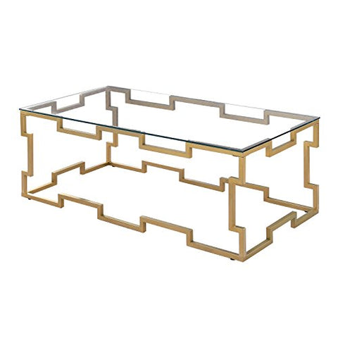 247SHOPATHOME IDF-4014C Aleif Coffee Table, Gold