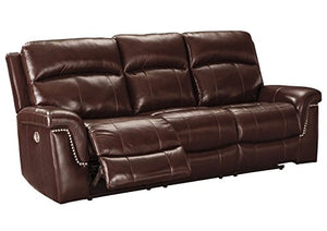 Signature Design by Ashley 7450115 Timmons Power Reclining Sofa, Burgundy