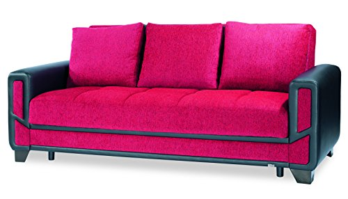 Casamode Mondo Modern Sofa Bed Red Chenille