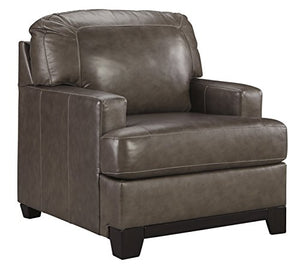 Ashley Furniture Signature Design - Derwood Contemporary Leather Armchair - Pewter