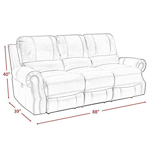 Picket House Furnishings Williams Power Reclining Sofa in Wine