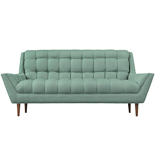 Modway Response Mid-Century Modern Loveseat Upholstered Fabric in Laguna