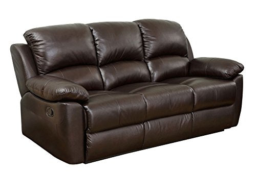 Abbyson Westwood Top Grain Leather Sofa, Brown