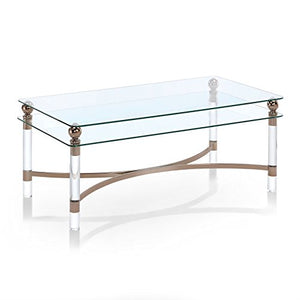 247SHOPATHOME IDF-4352C Ammon Coffee Table, Gold