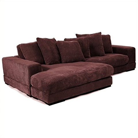 BOWERY HILL Sectional in Dark Brown