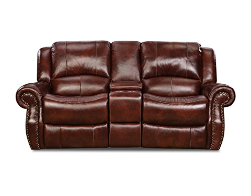 Cambridge 98528GRL-OB Telluride Leather Reclining Loveseat, Brown
