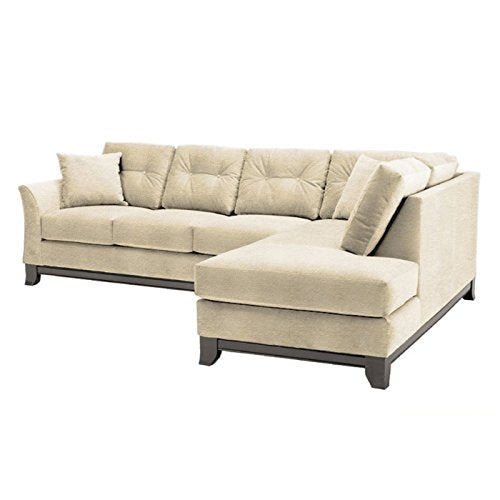 Marco 2-Piece Sectional Sofa, Beige, RAF - Chaise on Right (as shown)