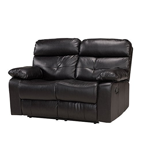 Common Home CH0147 Forsythe Reclining Loveseat, Espresso